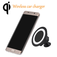 Qi Wireless Car Charger Sticky Phone Holder Mount Wireless Charging Pad for iPhone 6 6s Plus Samsung S7/S6 Lumia 950 Universal