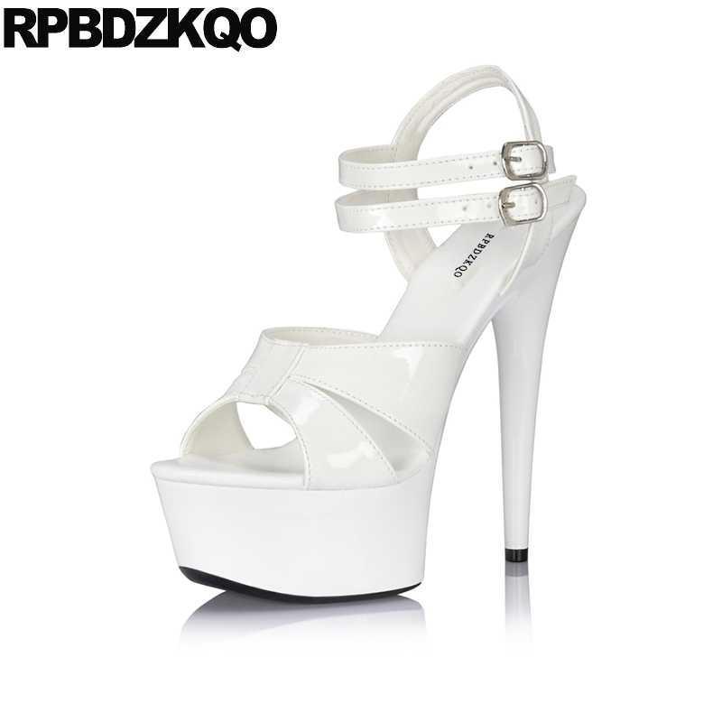 8585df9c043 ... Stiletto Pumps Stripper Big Size Platform 11 Women Shoes Gothic Fetish  2018 High Heels Crossdressed Double ...