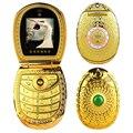 UPHONE U1 flip teclado Ruso Árabe flor de loto de jade de buda FM mujeres de lujo dual sim teléfono móvil del teléfono móvil MP3 MP4 DV P512