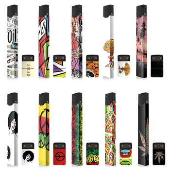 Stickers For JUUL Skin Protector 2.5D Stereo Sticker Adhesive Printing Label For JUUL 10 Patterns Available Vape Accessories