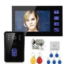 "Uso doméstico 7 ""Color Video de La Puerta Teléfono Intercom Sensor 700TVL CMOS IR A Prueba de agua Cámara Envío Libre de dhl"