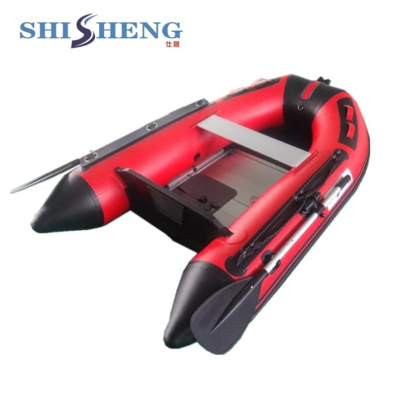 SHICHENG mærke CE certifikat billig rød og sort oppustelig robåd