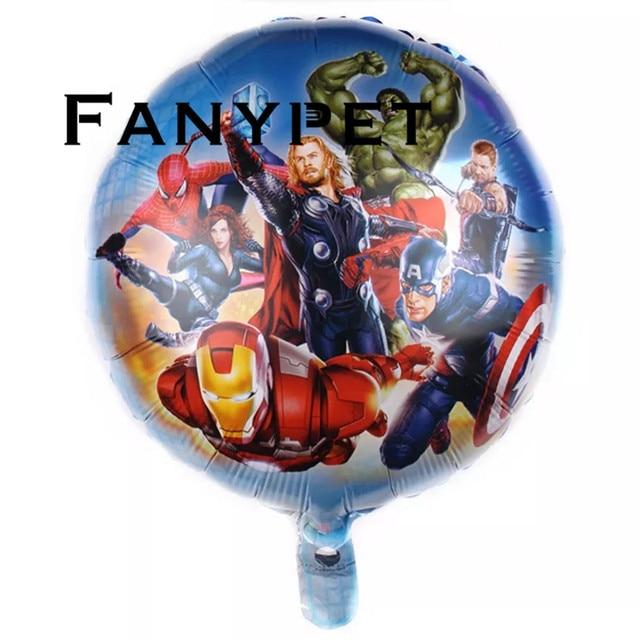50 pcs 18 polegada Balões Folha Spiderman Avengers Batman Hulk Super hero hero Balão Da Festa de Aniversário Crianças Decoração Do Chuveiro de Bebê brinquedos