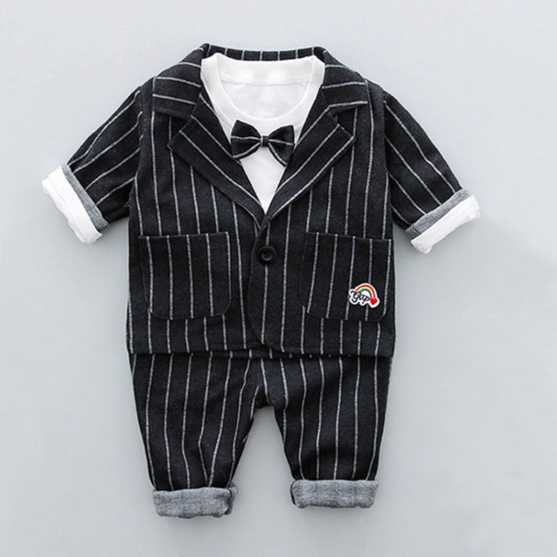 2018 Spring Toddler Baby Boy Formal Clothing Set Cotton Warm Suit T-shirt+Pant+Coat Newborn Boys Fashion Outerwear Clothes Sets 2017 new boys clothing set camouflage 3 9t boy sports suits kids clothes suit cotton boys tracksuit teenage costume long sleeve