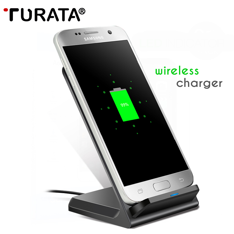 turata wireless charger fast charge qi wireless charger charging stand for samsung s7 s7 edge. Black Bedroom Furniture Sets. Home Design Ideas