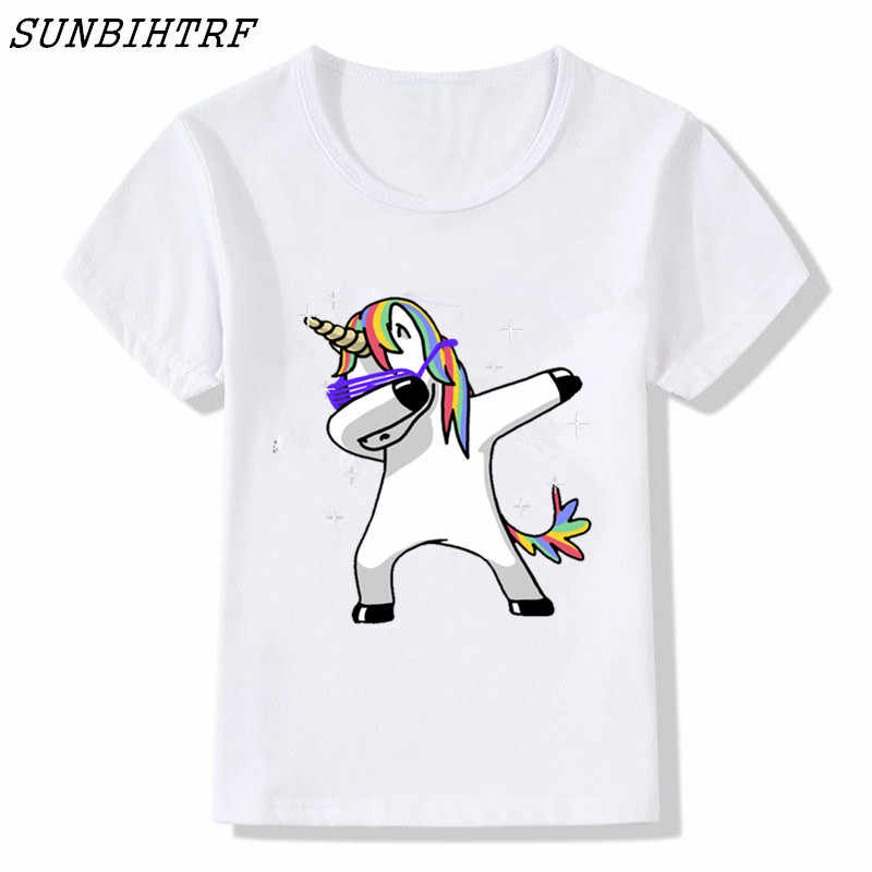 d3dd730c6e7 Detail Feedback Questions about Cuhk Children Tees Kid s Dabbing Unicorn T  Shirts Big Boys Girls Funny Tops T shirt Cool Lovely Cute Baby Plus Sizes  Clothes ...