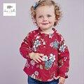 DB2252 дэйв белла весна новорожденных девочек цветок футболку девочки хлопок тройник вершины ребенка детская одежда toddle футболка топ