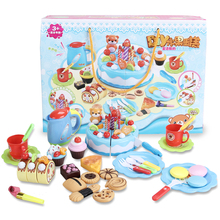 DIY 80PCS Birthday Cake Kitchen Toys For Children Funny Cutting Miniature Cake Simulation Educational Toys For Kids Gift