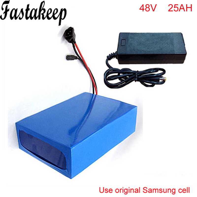 48v 25Ah 1000w Lithium Battery Pack with 2A Charger Built in 30A BMS Electric Bicycle Battery 48v For Samsung cell 48v 3000w electric bike battery 48v 40ah samsung electric bicycle lithium ion battery with bms charger 48v battery pack 48v 8fun page 2