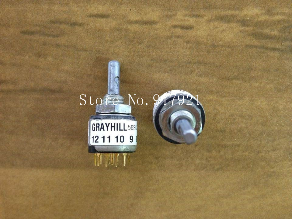 [ZOB] The United States GRAYHILL 56SDP30-01-1-A1002C1 rotary dial switch DN2113517 encoding  --5pcs/lot 2pcs lot united states grayhill rotary band switch 6 layers 6 knives 9 stalls 71bsf36 06 1 09s imported