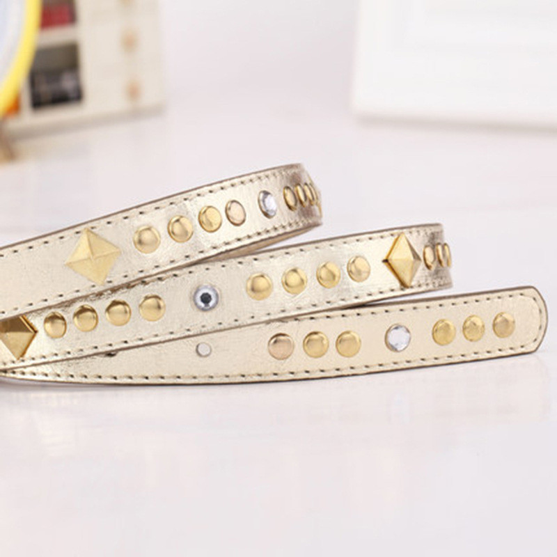 Belt For Women Belts Genuine Leather Elastic Straps Suspenders Automatic Gold Reversible 2018 New High Quality Designer Casual