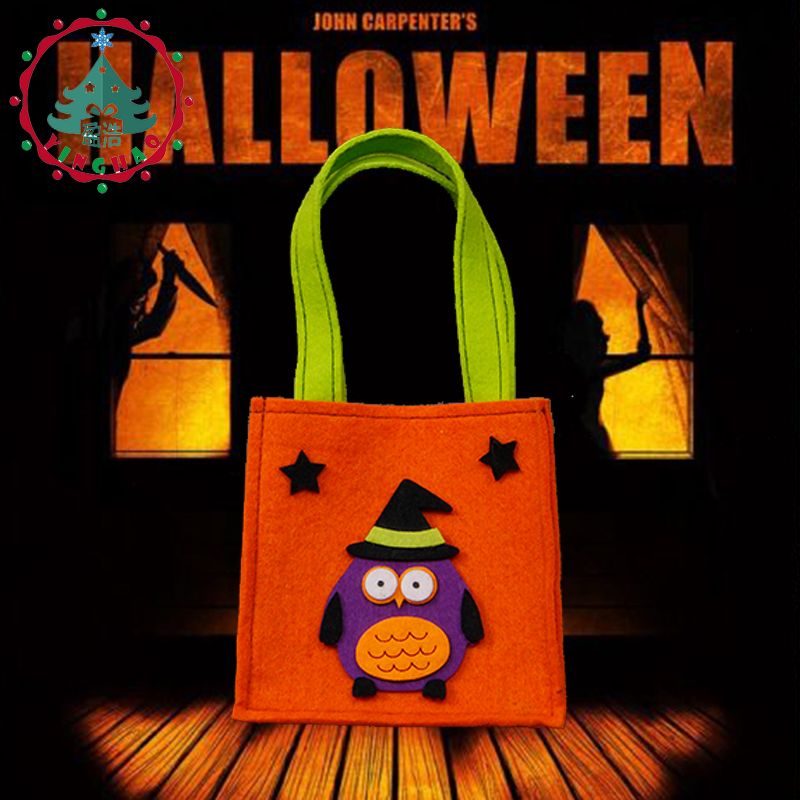 inhove ugle græskar farve taske børn taskebørn børn halloween - Varer til ferie og fester - Foto 5