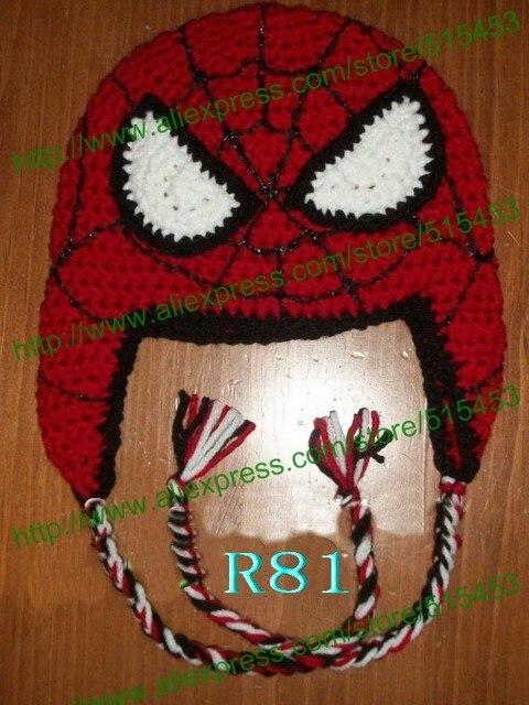 Free Shippinghandmade Crochet Spider Man Hat Photo Costume Infant