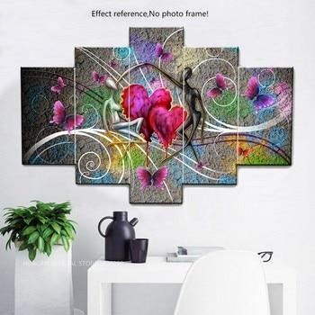 Huacan Lover Diamond Painting Needlework Cross Stitch Full Square Mosaic Multi picture Combination Rhinestones DIY