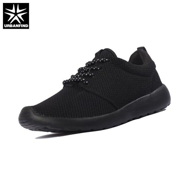URBANFIND Luz Ocasional Dos Homens Lace-up Sapatos de Verão Tamanho 36-45 Respirável Malha Superior Calçados Unisex Preto/branco