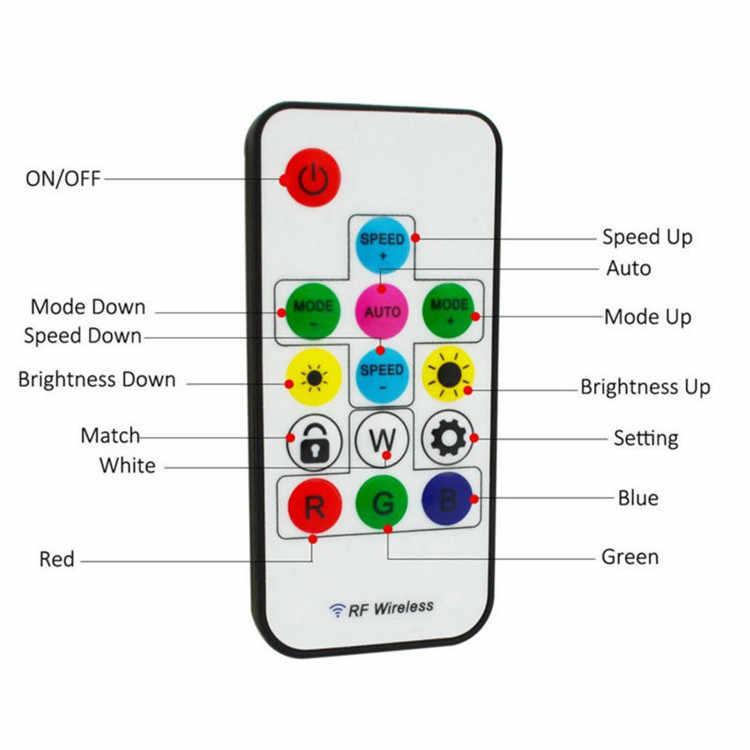 Mini contrôleur de lumière de bande de pixel de mini 3key RF 14key 21key mini pour WS2811 SK6812 WS2812B 6803 1903 avec la télécommande