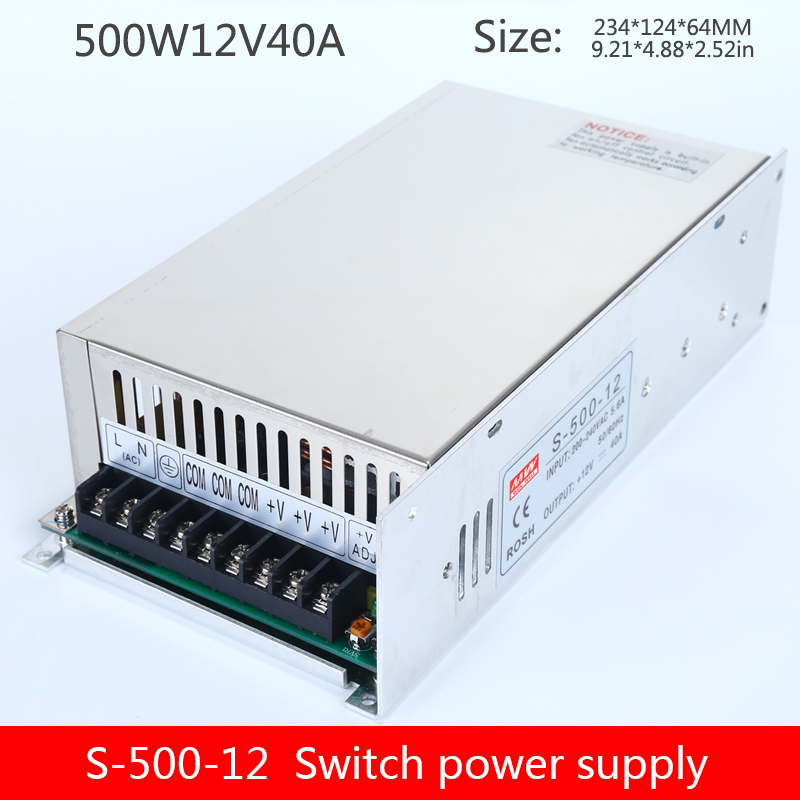 12V40A switching power supply 500W AC to DC transformer regulator monitoring LED power supply S-500-12 image