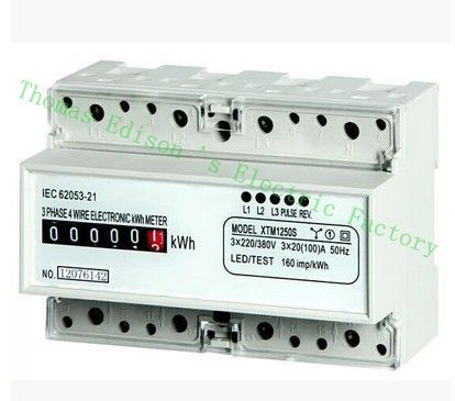 Din rail Three phase  KWH Watt hour din-rail KWH energy  analog 10(50) 20(100) 15(90) 5(40) 5(100) A 50HZ 60HZ 220v 380V 1 5 65a 120vac 60hz single phase din rail kilowatt led hour kwh meter ce proved