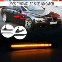 2 stücke Fließende LED Seite Marker Lichter Dynamische Blinker Licht Seite Repeater Lampe Panel Lampe für BMW 7 Serie e65 E66 E67 E68