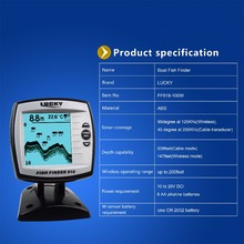 LUCKY Fish Finder Wired / Wireless 2-in-1  Echo Sounder Depth Sounder Sensor Transducer Fishing Detector Monitor FF918-100W