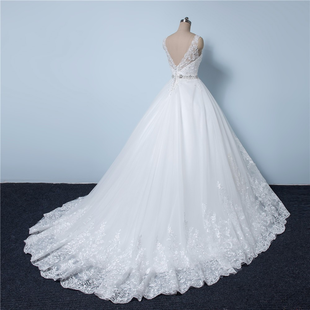 Courtes ligne Romantique Manches A Blanc Dentelle Sijane ivoire Banquet Robe white Ivory Appliques Robes Princesse 0556 YHxqww