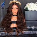 Alicrown Brazilian Virgin Hair Aavy Lace Front Wig Body Wave Hair Ombre Lace Front Wig  Glueless Full Lace Human Hair Wigs