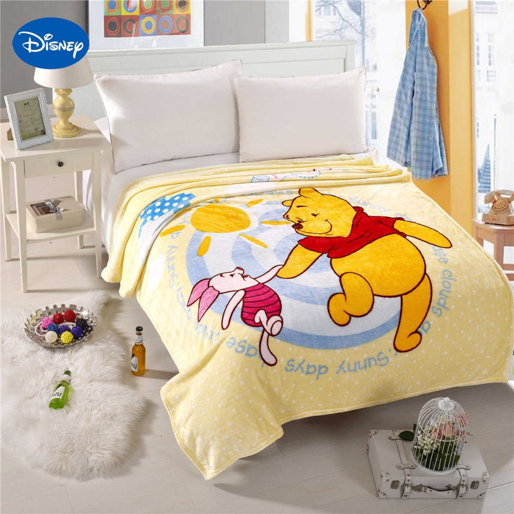 Winnie the pooh toddler bedding - Disney Cartoon Character Winnie The Pooh Piglet Printed Blankets Bedding 150 200cm Size Boys Home