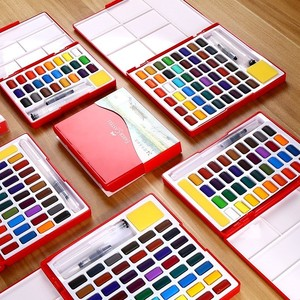 Image 4 - Faber Castell 24/36/48 Colori Solido Set Pittura Ad Acquerello pennello di acqua di Colore Brillante Portatile Acquerello Pigmento contenitore di regalo