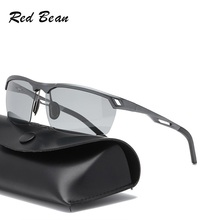 New Photochromic Polarized Spring hinge Men Sunglassess Luxury Brand Designer Vintage Driving Sun Glasses Male Goggles Shadow