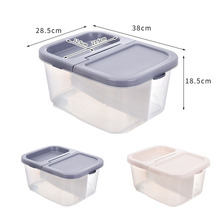 10L Kitchen Food Storage Container Safety Plastic Cereal Grain Bean Box 3 Girds  Eggs Airtight