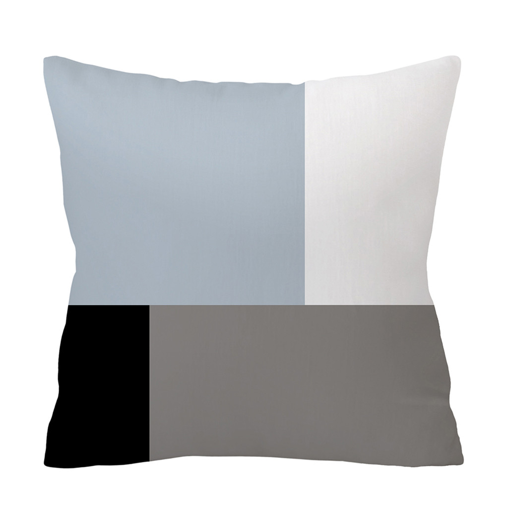 Image 2 - Fashion Gray Pillowcase Soft Fur Plush Throw Pillowcases Cover Home Bed Room Sofa Decoration Furry Waist Comfort Cushion Cover-in Cushion Cover from Home & Garden