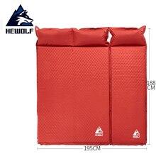Hewolf 1  2 Person Automatische Aufblasbare Matratze Isomatte Gespleißt Dicken 5CM Air Bett Outdoor Camping Matten Aufblasbare kissen