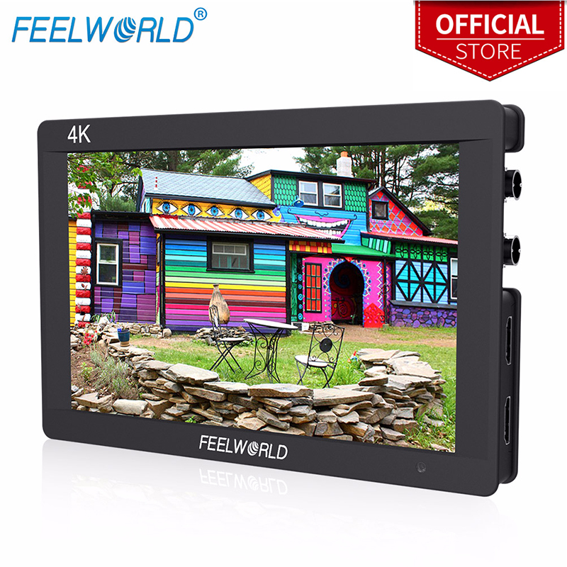 Feelworld F7S 7 Inch 3G-SDI HDMI Monitor 7 IPS 4K 1920x1200 Full HD Camera Field Monitor with Histogram Peaking Focus Zebra feelworld fw760 fullhd 1920x1280 7 camera video ips filed monitor hdmi peaking focus assist contrast 1200 1 wide view angles