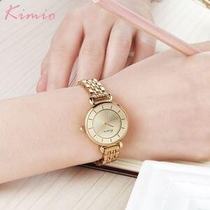 Image 4 - Kimio altın İzle kadınlar saatler bayanlar yaratıcı çelik kadın bilezik saatler kadın saat Relogio Feminino Montre Femme