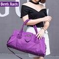 2016 большой емкости путешествия плечо сумки дамы водонепроницаемый нейлон большой мешок руки фиолетовый деловой поездки мешки duffle