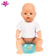 Doll Accessories American Girl Doll Clothes Baby Born Zapf Clothes White Short sleeved T shirt for