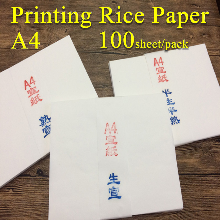 A4 White Printing Rice Paper Chinese Painting Calligraphy Xuan Paper Painting Supply Canvas Stationary archaistic chinese rice paper cardboard for gongbi painting calligraphy blinding notebook painting canvas paperboard