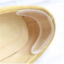 Gel de silicone protetor de calcanhar macio almofada protetor pé pés cuidados sapato inserção almofada palmilhas acessórios sapatos para sapatos