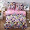 Home Textile AB Side Bedding Set Cartoon Pink Monkey Bedding Housse De Couett Kid Bed Linen
