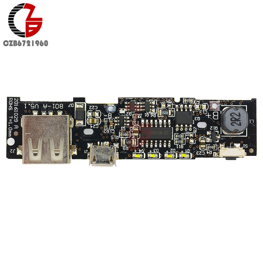 5V 2.1A Power Bank Charger Module Power Bank Circuit Board PCB Step Up Boost Power Bank Module DIY 18650 Battery for Xiaomi