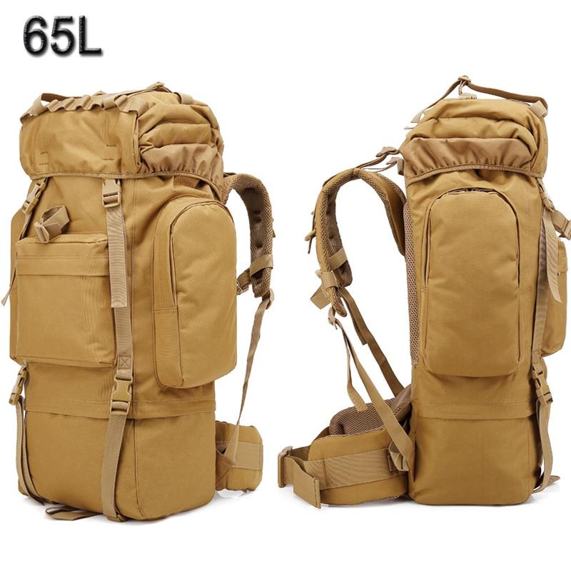 65L grande capacité Camping sacs alpinisme sac militaire tactique randonnée sac à dos hommes femmes sport voyage sac à dos