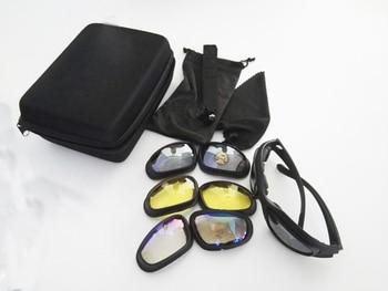 91c0580297 C5 polarizado táctico gafas desierto 4 lentes al aire libre UV400 gafas de  protección de caza militar juego de guerra gafas