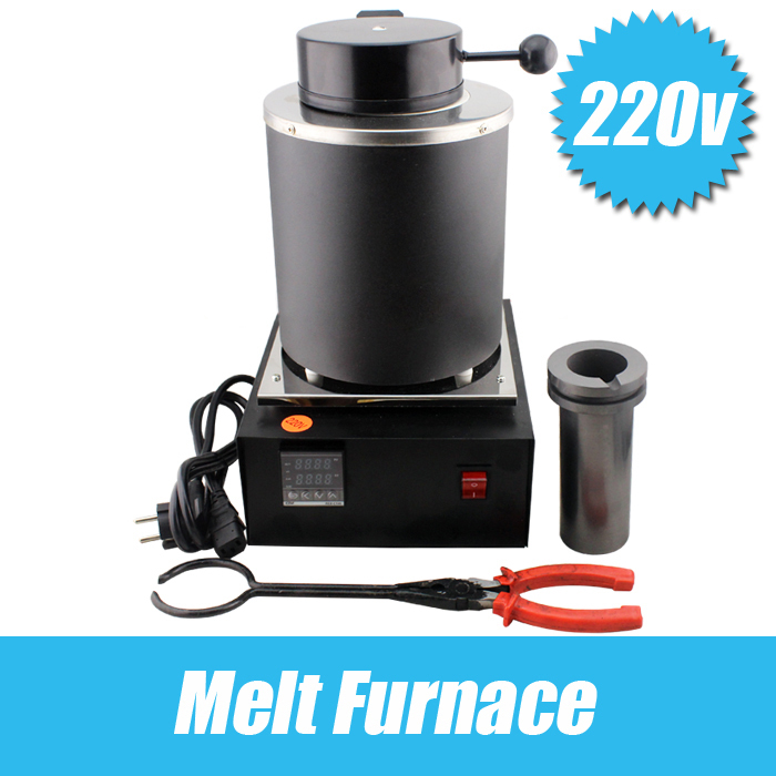 220 Voltage and 2KG Capacity Gold Electric Melting Furnaces with 1pc Graphite Crucible & Plier,Smelting furnace goldsmith