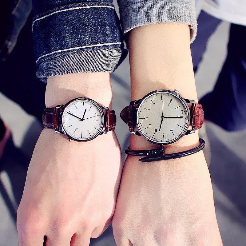 Fashion Quartz Couple Watch For Lovers Women Men Watches Ladies Girls Top Brand Couple Sweetheart Wrist Watch Female Male Clock