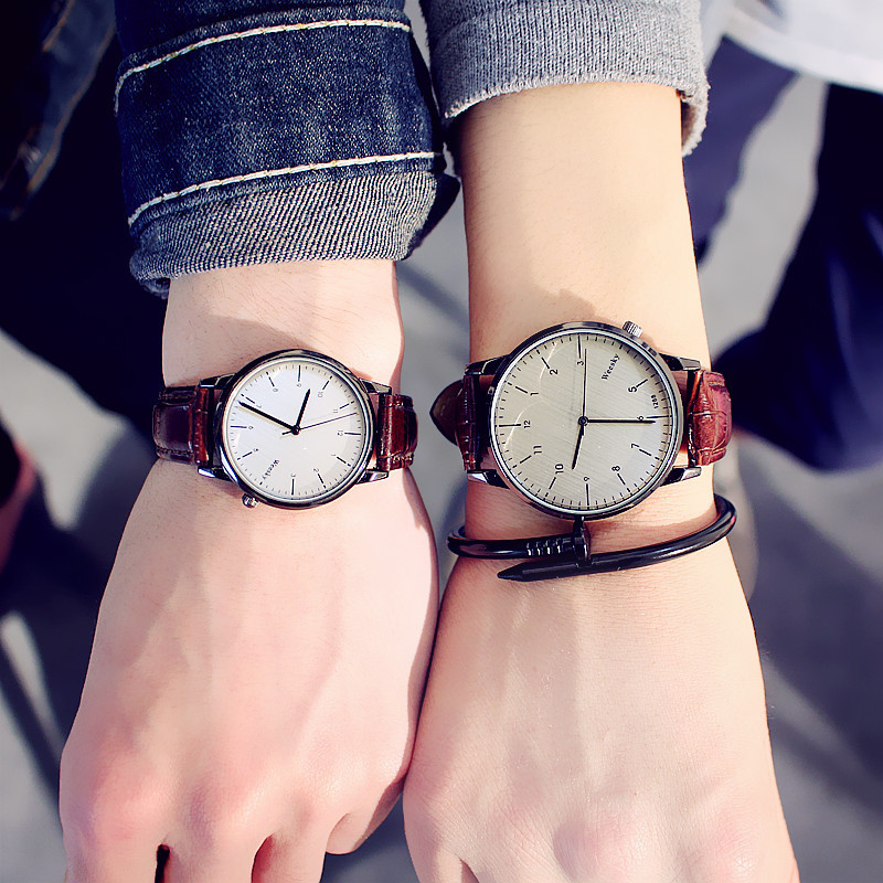 Fashion Quartz <font><b>Couple</b></font> <font><b>Watch</b></font> for lovers Women <font><b>Men</b></font> <font><b>Watches</b></font> <font><b>Ladies</b></font> Girls Top Brand <font><b>Couple</b></font> sweetheart Wrist <font><b>watch</b></font> Female Male Clock image