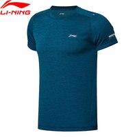 Li Ning Men Running Series T Shirt 100 Polyester Regular Fit LiNing Comfort Sport Tee T