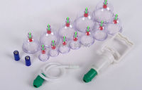 2014 New Chinese Medical Health Care Relaxation 12 Cups Vacuum Body Cupping Set Portable Massage Therapy