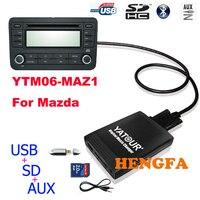 Yatour Car Digital Music Changer USB MP3 AUX adapter For Mazda 3/5/6 Miata/MX5 MPV 2003 2008 yt m06 Audio Car MP3 Player