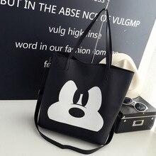 Disney Mickey Mouse lady kreskówkowa torba na ramię torba modna torebka odzież akcesoria wysoka pojemność przechowywania torba na prezent