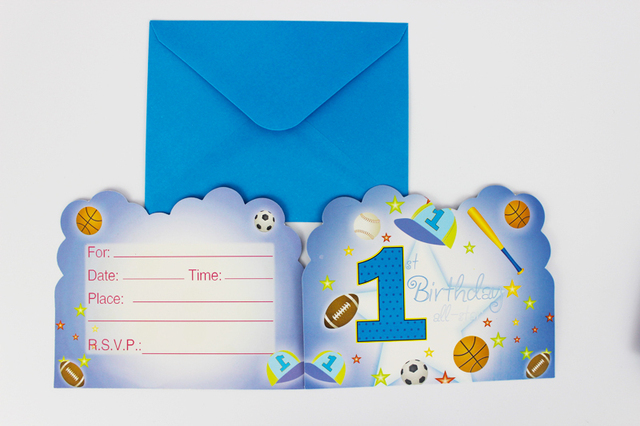 free shipping 60pcs lot one year old boy theme children birthday